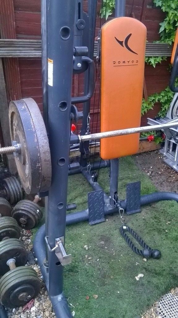 DOMYOS smith machine with weight bench