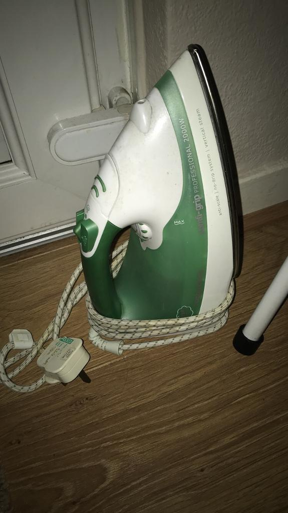 Morphy Richards iron and ironing board
