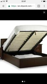 King size storage bed with ortho matress