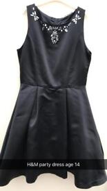 H&M girls party / occasion dress age 14