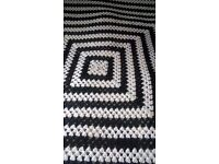 2 x 100 % WOOL HAND MADE BLANKET /THROWS OVERS