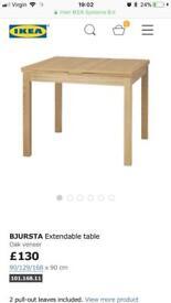 WHITE Ikea extendable table