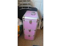 Pink metal stoage cabbinet