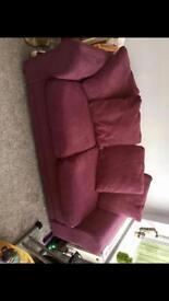Metal sprung sofa bed