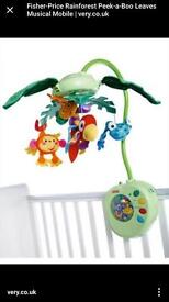 Fisher Price Rainforest cot Mobile almost new