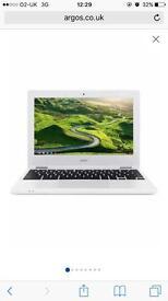 Acer white chrome book