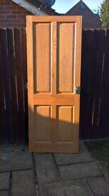 Thirteen Interior Solid Oak Doors with Hinges and Door Handles