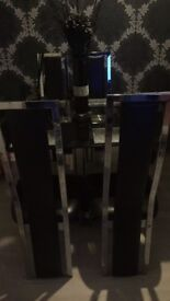 Black dinning table with 4 chairs