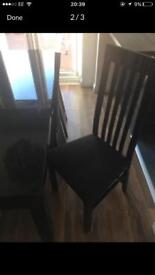 Black gloss table and chairs