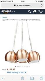 Copper modern SKAL ceiling light