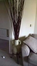 LargecCream Clay Vase