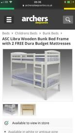 **IMMACULATE** White Bunkbeds
