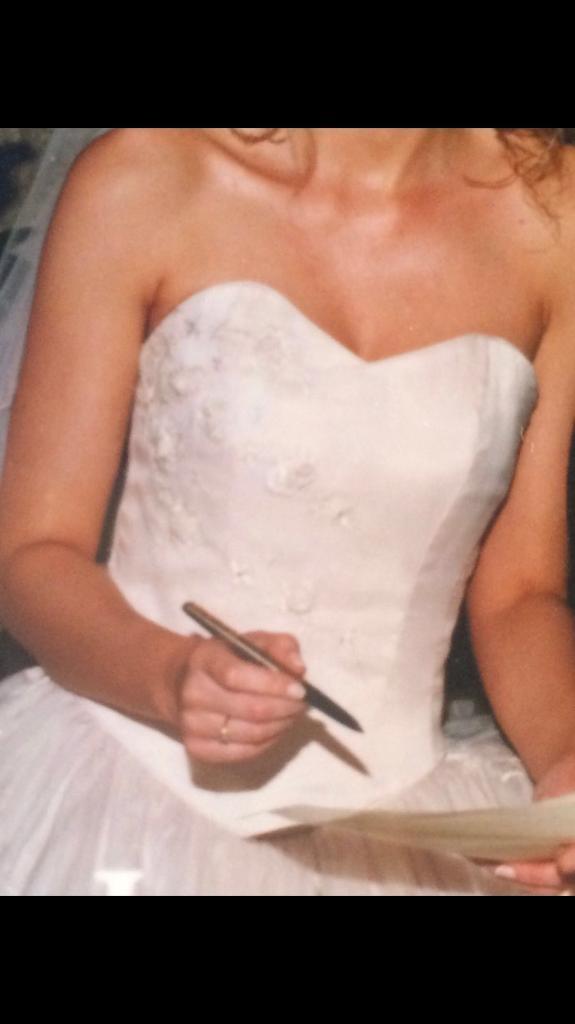 Size 8 light pink Elaganza Sposa wedding dress for sale