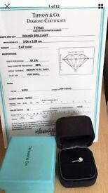 Tiffany diamond ring platinum