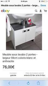 Brand new in box under sink cabinet excellent condition