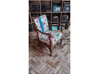 Re-Upholstered antique chair with Laura Ashley fabric
