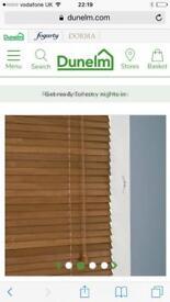 Wooden blinds Dunelm 105x160