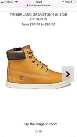 Boys timberland boots, size 13, boxed