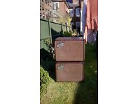 AGUILAR DB 112 & DB 112 NT Bass Speaker Cabs in Chocolate with Aguilar padded covers