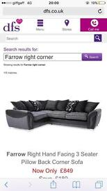DFS right hand corner sofa