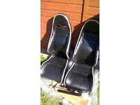 PAIR OF UNIVERSAL NARROW BUCKET SEATS FOR KIT CAR INC WESTFIELD/CATERHAM/LOTUS