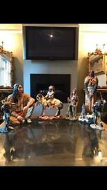 Red indian statues collection