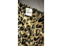 Leopard faux fur skirt Urban Outfitters