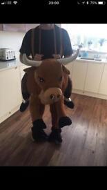 Rodeo bull pull on costume fancy dress
