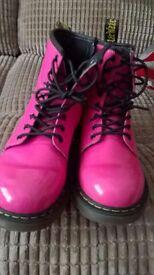 Girls pink dr marten boots