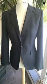 NEXT Ladies Blue Pinstripe Tailored Jacket/Blazer Size 10 Interview Work Smart