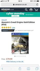 Assassins Creed PS4 game. Limited edition