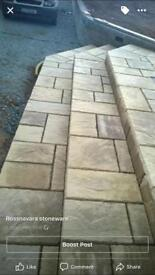 Patio paving slabs, special offer, only £11 per square metre.