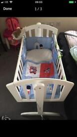 Little soldier crib bedding excellent condition