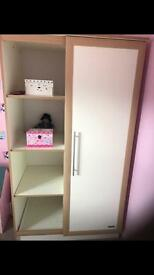 Wardrobe and baby changing unit
