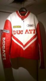 1990s Ducati Shoie leather jacket, large, in exceptional condition, central London bargain