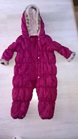 girls purple snow suit for sale