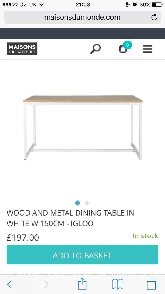 Brand New Scandi Style Dining Table In Bedminster Bristol Gumtree