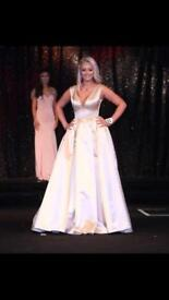 Custom made size 8/10 prom pageant dress cream