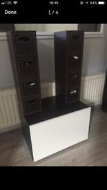 IKEA BESTA cabinet and storage boxes