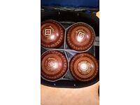 Size 5 Henselite Medium Classic Delux bowls.