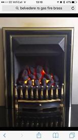 Belvedere Brass gas fire - still in box!