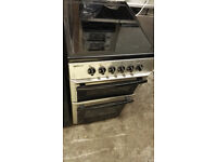 Beko 50cm Silver/Stainless Electric Cooker - Ceramic Hob - Fan