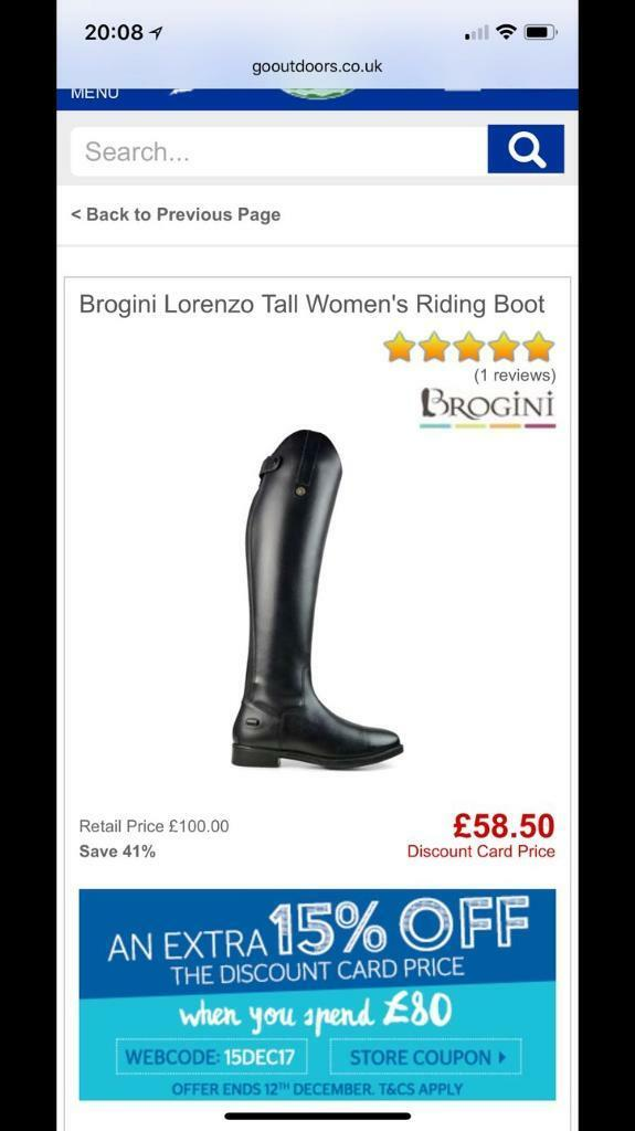 Riding boots size 3 brand new