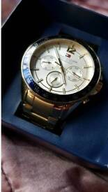 Tommy Hilfiger Gold watch- swap for 3ds xl with game or pc monitor or mini fridge