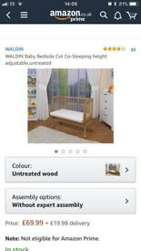 Walden baby bedside co sleeping cot