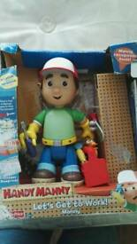 Handy Manny figure Hasbro complete with tools workman builder