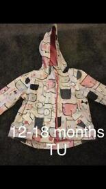 Baby girls coats 9-12mths & 12-18mths