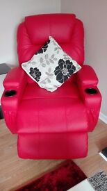 Brand New Faux Leather Massage Rise Recliner Mobility Tilt Lift Arm Chair with heat