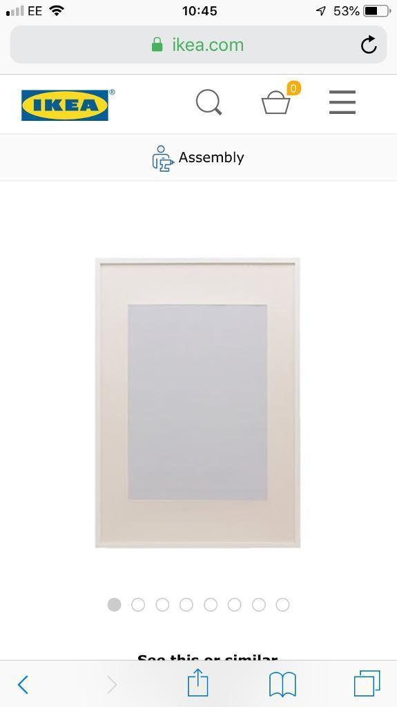 2 X Ikea Ribba White 50 70 Frames