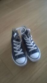 Kids Black Converse All Star size UK 12
